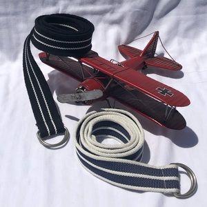 Other - Braided Striped Belt Bundle